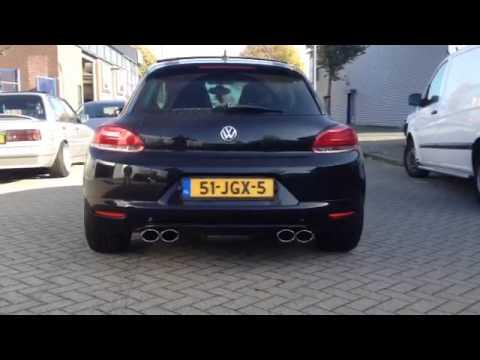 VW Scirocco 1.4 TSI RVS sportuitlaat op maat by KCEsportuitlaat