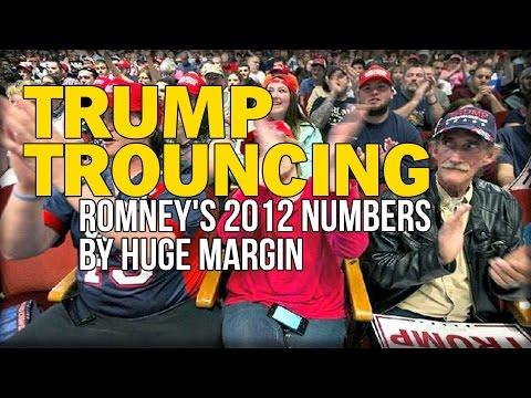 TRUMP TROUNCING ROMNEY'S 2012 NUMBERS BY HUGE MARGIN