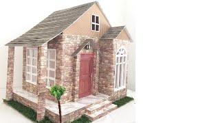 DIY: cardboard dollhouse with lights