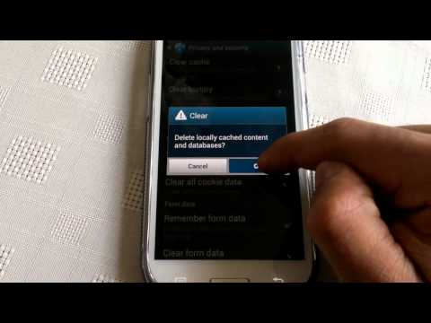 samsung galaxy s3 (CLEAR BROWSER HISTORY)