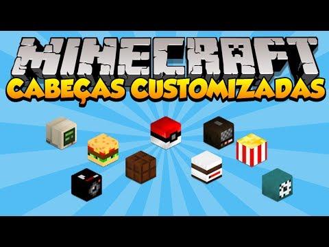 Minecraft: Como usar Cabeças Customizadas Decoração 1.7+