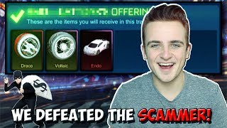 WE EXPOSED A ROCKET LEAGUE SCAMMER AND GOT ALL OUR ITEMS BACK! | Crimson Dracos & MORE!