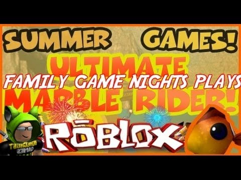 Family Game Nights Plays Roblox - Summer Games Ultimate Marble Rider (PC)