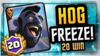 UNREAL! 20 WIN HOG FREEZE DECK | FLAWLESS GAMEPLAY