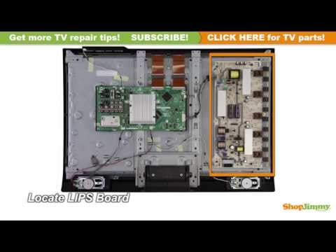 LCD TV Repair Sharp RUNTKA448WJQZ Power Supply / Backlight Inverter Boards Replacement Tutorial