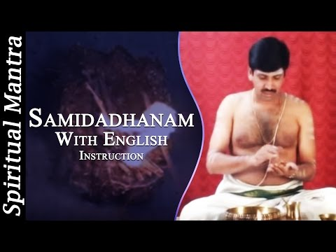 Samidadhanam In See Learn And Perform Sandhyavandanam (yajur - Smartha) video