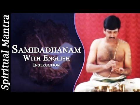 Samidadhanam In See Learn And Perform Sandhyavandanam (yajur - Smartha) video
