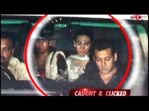 Aishwarya Rai, Salman Khan, Abhishek Bachchan, Karisma Kapoor at Ambani's party