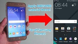 Dark Material theme for Samsung Galaxy J5 /J7!