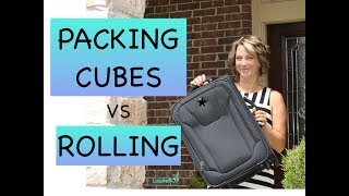 Best Method: Packing Cubes vs Rolling Method in a CarryOn - My Test and Review