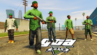 Grove Street vs Ballas - (GTA V Machinima)