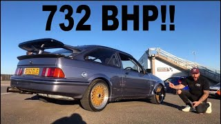 BRUTAL 732 BHP FORD SIERRA COSWORTH RIDE ALONG!!