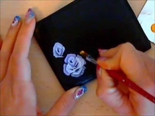 Дизайн ногтей акриловой краской видео