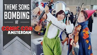 Chasing cosplayers with their theme song! | AMSTERDAM COMIC CON