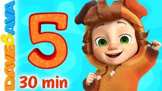 🐸 Counting 1 to 5, Five Little Ducks and More Numbers Songs | Dave and Ava 🐸