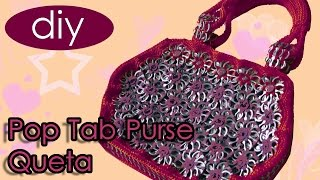 "How to crochet a handbag with soda can tabs: ""Queta Purse"" part 1"