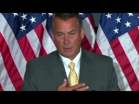U. S. House speaker John Boehner responds to wage increase