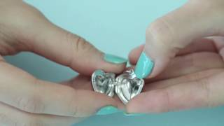 Soufeel--How to open the locket heart dangle charm C022?