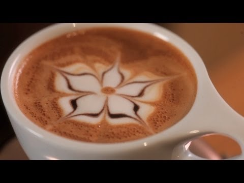 How to Etch a Flower | Latte Art