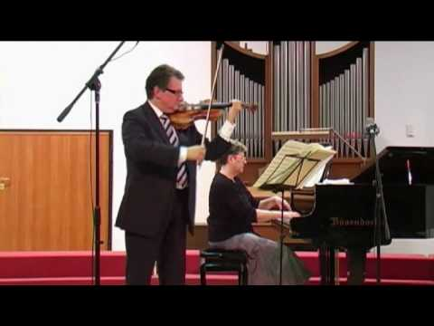 Brahms: Scherzo - Micho Dimitrov (violin) Violeta Popova (piano)