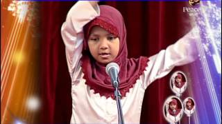 Zikra  Naik Sings a song, Thank you Allah for the sun so bright…