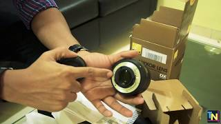 Nikkor AFS 35mm 1.8G DX lens unboxing English