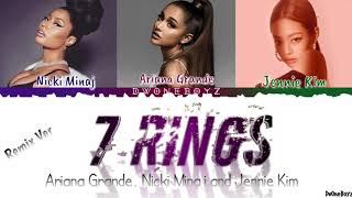 Ariana Grande - 7 rings feat. Nicki Minaj & JENNIE Lyrics/Lirik Terjemahan Indonesia (Remix Version)