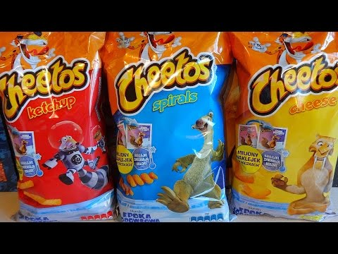 2016 Ice Age 5: Collision Course Movie Cheetos Snacks Bags Surprise European Collection