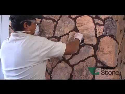 Instalacion perdura stone tipo irregular youtube - Paredes imitacion piedra ...