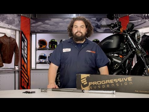 Progressive Fork Cartridge Kit for Harley Review at RevZilla.com