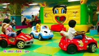 Taman bermain anak trampolin anak mainan mobil mobilan anak mandi bola indoor playground