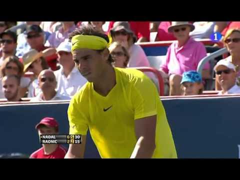 Rafael Nadal beats Milos Raonic in Rogers Cup final 6-2 6-2