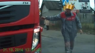 DashCam Truck VS Car Accident Funny in Poland