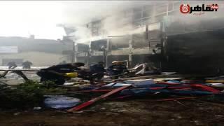 لحظات السيطرة على حريق مصنع ميت نما