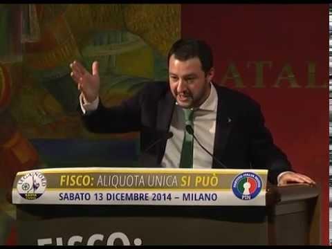 FISCO: ALIQUOTA UNICA SI PUÒ - INTERVENTO DI MATTEO SALVINI [13/12/2014]