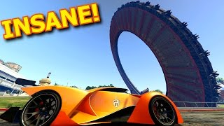 INSANE UFO STUNT!!! WITH THE X80 PROTO! - Best Custom Races In GTA 5 Online (Cunning Stunts)
