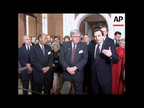BOSNIA: US CONGRESSIONAL DELEGATION  ARRIVES IN SAREJEVO