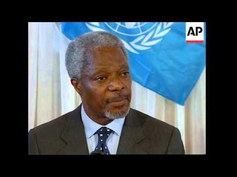 UGANDA: UN CHIEF KOFI ANNAN VISIT