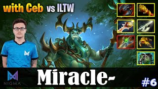 Miracle - Nature's Prophet Safelane | with Ceb | vs ILTW | Dota 2 Pro MMR Gameplay #6