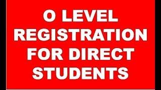 O level Registration For Direct Student( ओ लेवल का फॉर्म कैसे भरे )