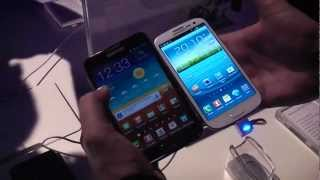 Samsung Galaxy S3 vs Samsung Galaxy Note - Hands On and Comparison