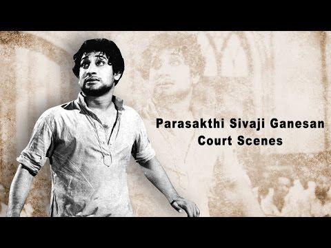 Parasakthi Sivaji Ganesan Court Scenes