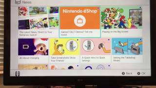 Nintendo switch first setup and eshop!