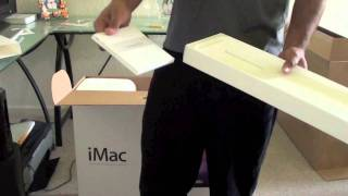 imac 27'' 2011 unboxing and setup