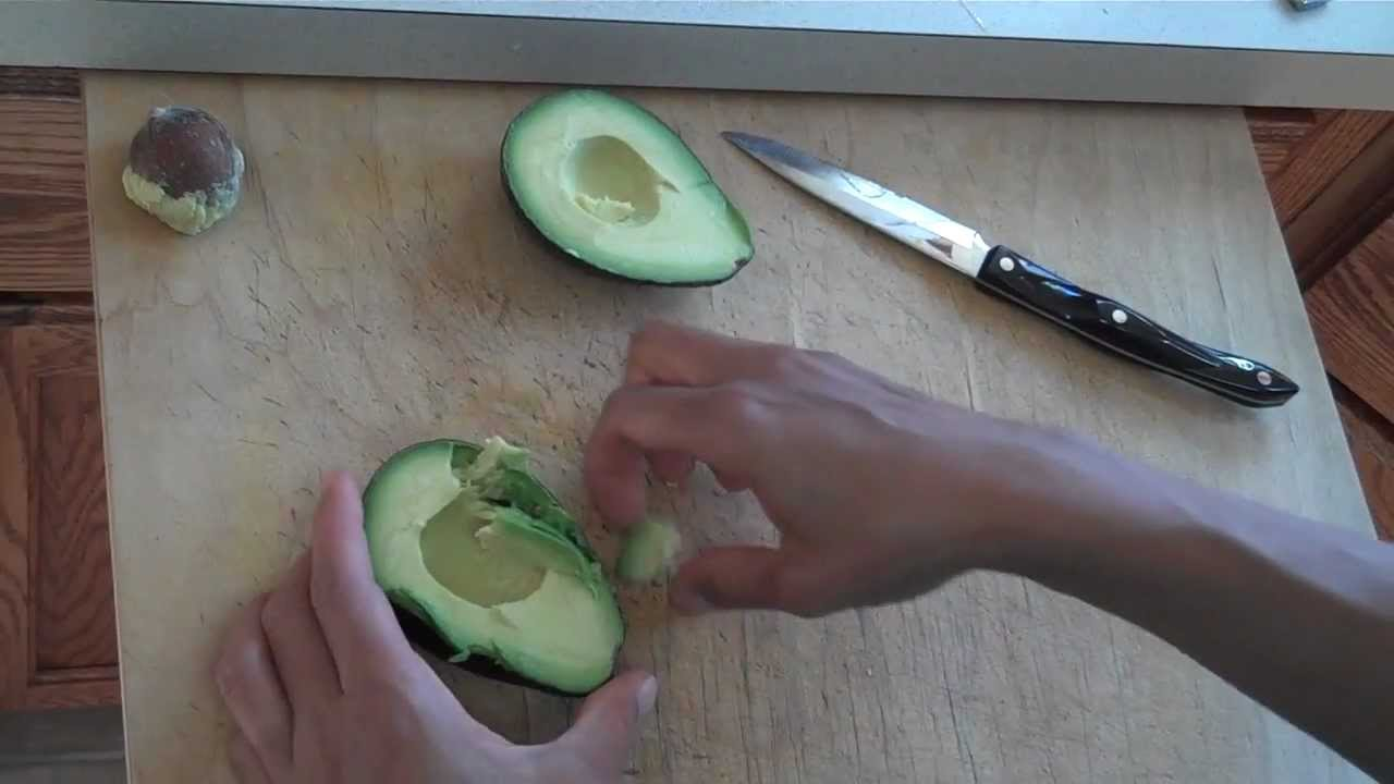 how to cut an avocado video