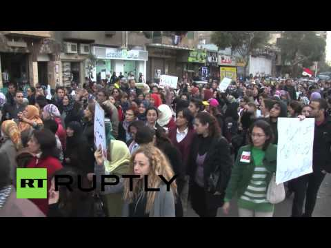 Women's rally against sexual violence in Cairo