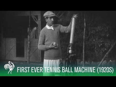 First Ever Tennis Ball Machine (Lacoste)