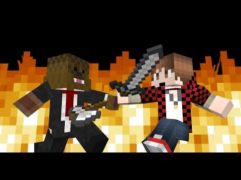 BajanCanadian vs JeromeASF minecraft fight animation mine imator