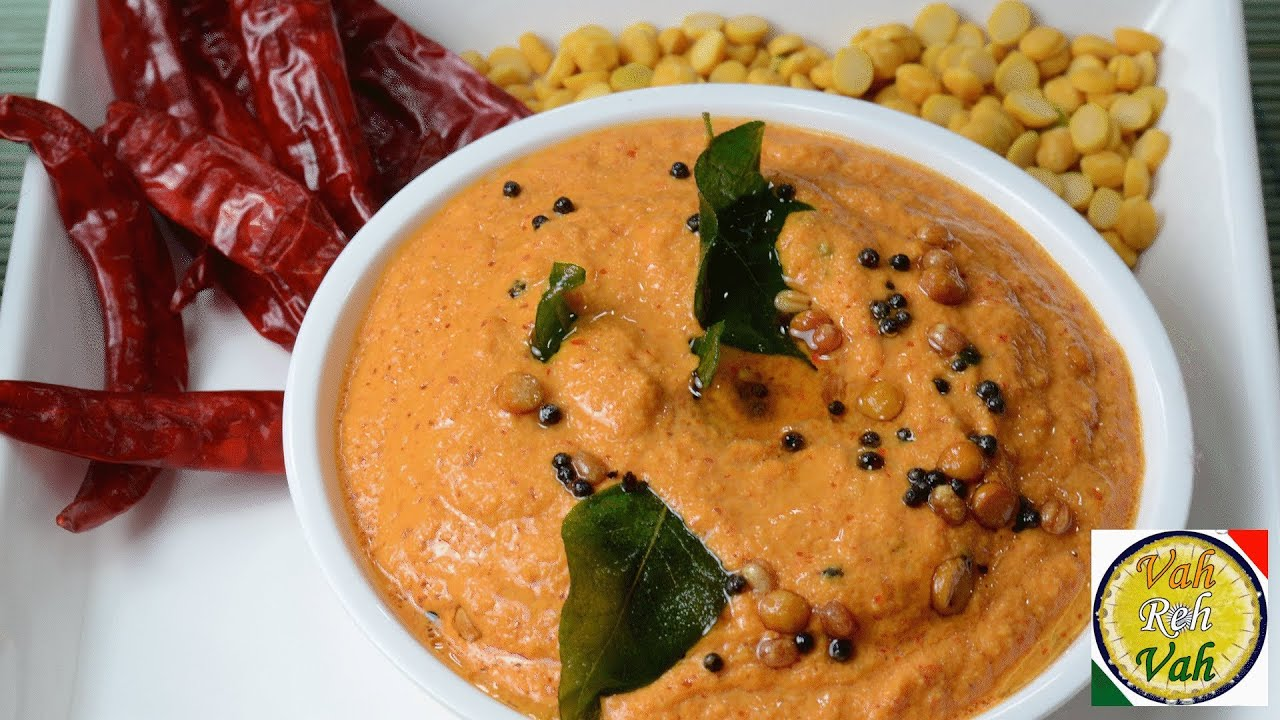 Hot - Red Chilli Hot Coconut Chutney - By VahChef @ VahRehVah.com ...