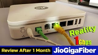 Jio Gigafiber Broadband Speed Test After 1 Month of Use